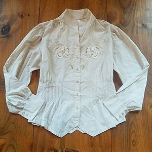 Soft Surroundings embroidered blouse